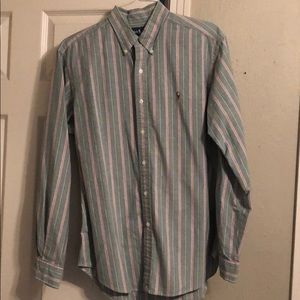 Ralph Lauren Classic Fit Green and Red Button Up